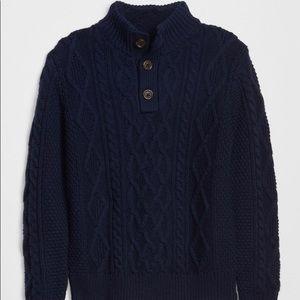 GAP Kids RED Cable-Knit Mock Turtleneck Sweater